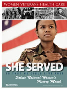 Thumbnail of Women's History Poster Across Time: She served so that we could live free. Salute Women's History Month.