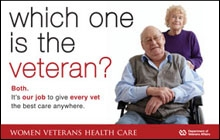 Thumbnail of Outreach Poster: Which one is the Veteran? Both. It's our job to give every Vet the best care anywhere.