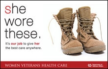 Thumbnail of Outreach Poster: She Wore These (boots). It's our job to give her the best care anywhere.