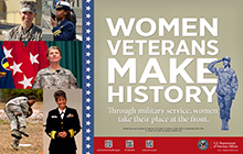 Thumbnail of Outreach Poster: Women Veterans Make History.