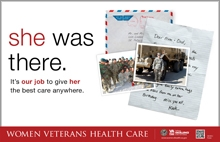 Thumbnail of Outreach Poster: She Was There. It's our job to give her the best care anywhere.
