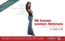 Thumbnail of VA Knows Women Veterans (Poster I).