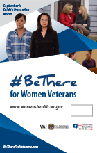 Be There for Women Veterans Fillable Poster