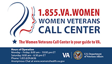 Women Veterans Call Center Business Card