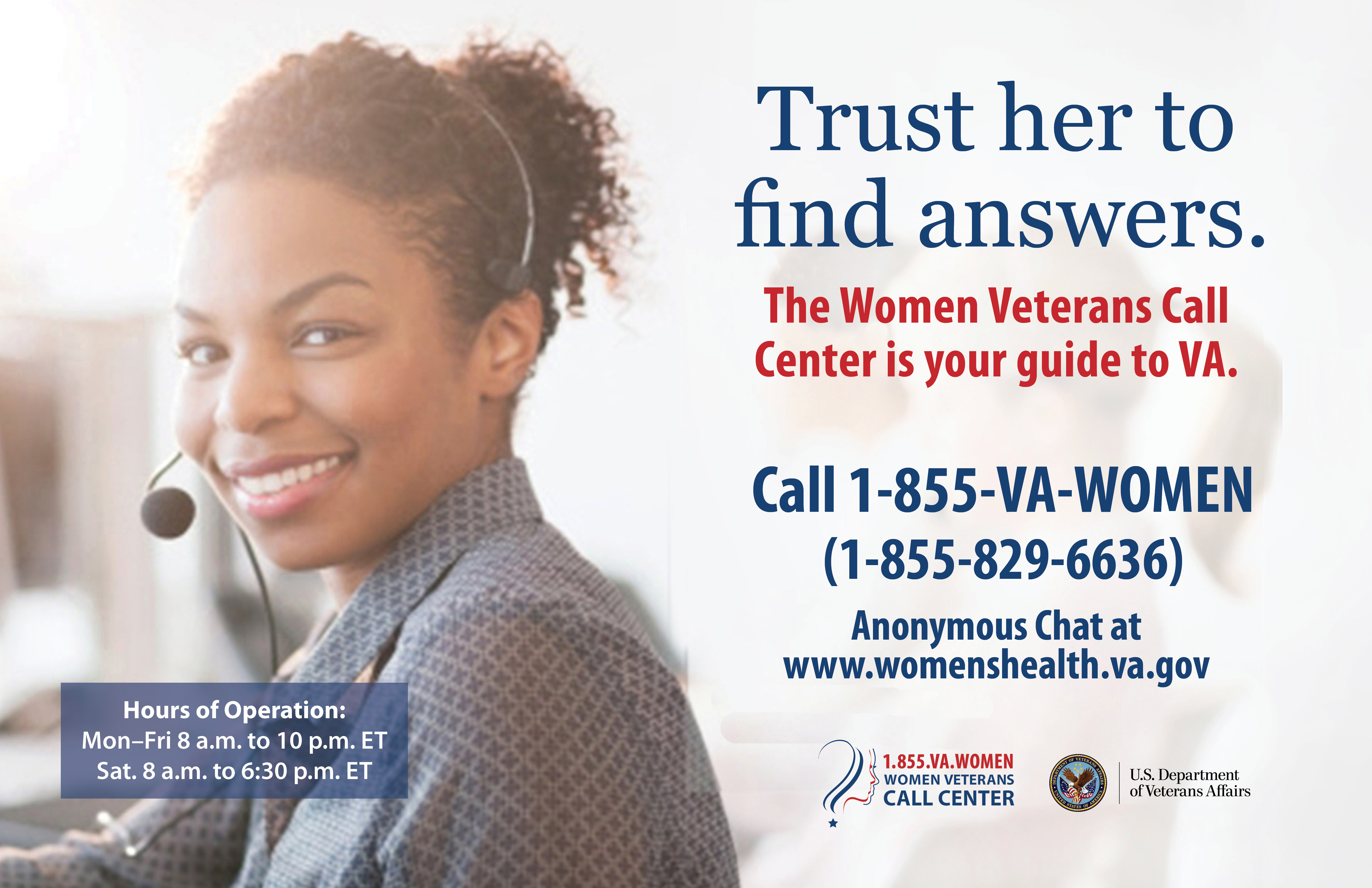 trust her to find answers women veterans health care