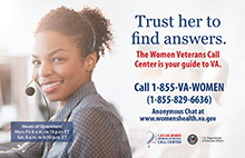 Image of Women Veterans Call Center Poster