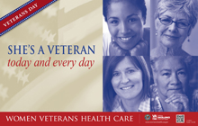 Thumbnail of Outreach Poster: She's a Veteran. Today and every day.