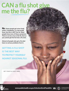 Thumbnail of flu prevention poster: Protect yourself and your family. Get your flu shot.