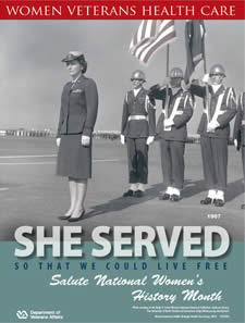 Thumbnail of Women's History Poster 1967: She served so that we could live free. Salute Women's History Month.