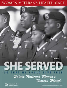 Thumbnail of Women's History Poster Today: She served so that we could live free. Salute Women's History Month.