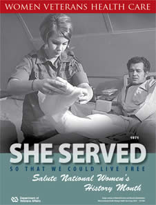 Thumbnail of Women's History Poster Vietnam: She served so that we could live free. Salute Women's History Month