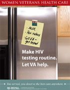 Thumbnail of HIV outreach poster: Make HIV testing routine.
