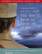 Thumbnail image of mental health outreach poster: Concerned about your mental health? You don't have to face it alone.