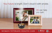 Thumbnail of smoking cessation outreach poster: Your future is bright, don't cloud it with smoke.