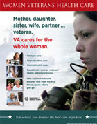 Thumbnail image of women's comprehensive health outreach poster: VA cares for the whole woman.
