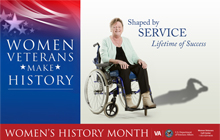 Thumbnail of Outreach Poster II: Women Veterans, Make Your Own History
