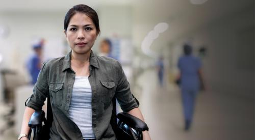 Female Veteran in wheelchair